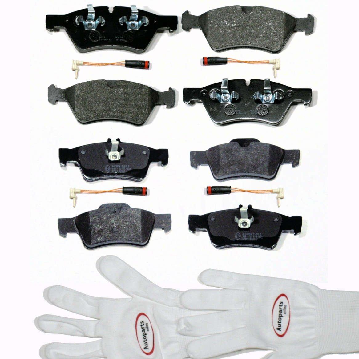Autoparts-Online Set 60004801 Bremsbelä ge/Bremsklö tze mit Sensoren fü r Vorne + Hinten