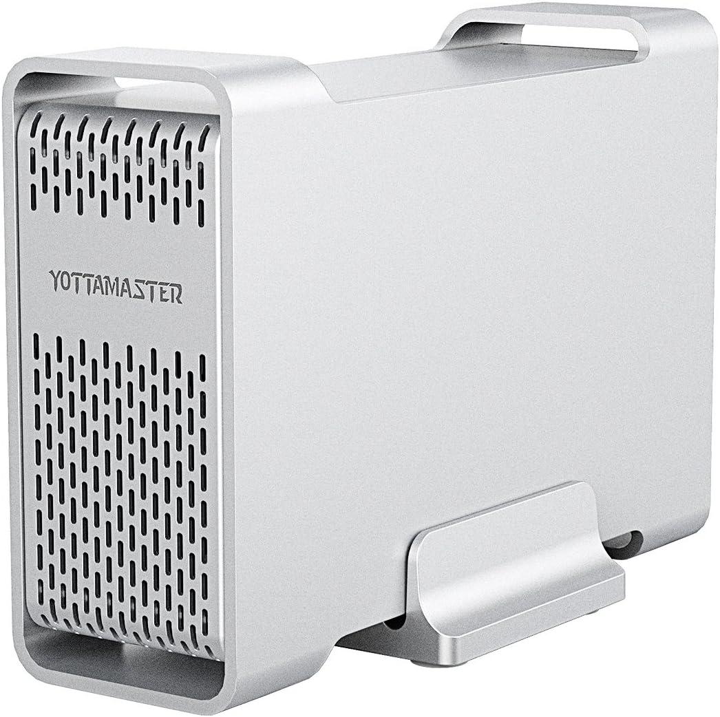 Yottamaster USB 3.1 Tipo C Disco Duro Externo Raid Caja GEN2 10 ...