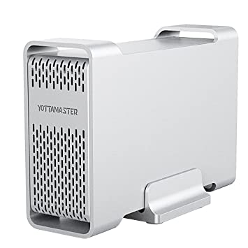 Yottamaster Alluminio USB 3.0 Disco Duro Externo Raid Caja 2 Bahía per 15mm 12.5mm 9.5mm 7mm HDD SSD