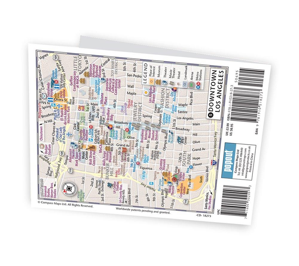Los Angeles Popout Map PopOut Maps Amazoncouk PopOut Maps - Washington dc popout map