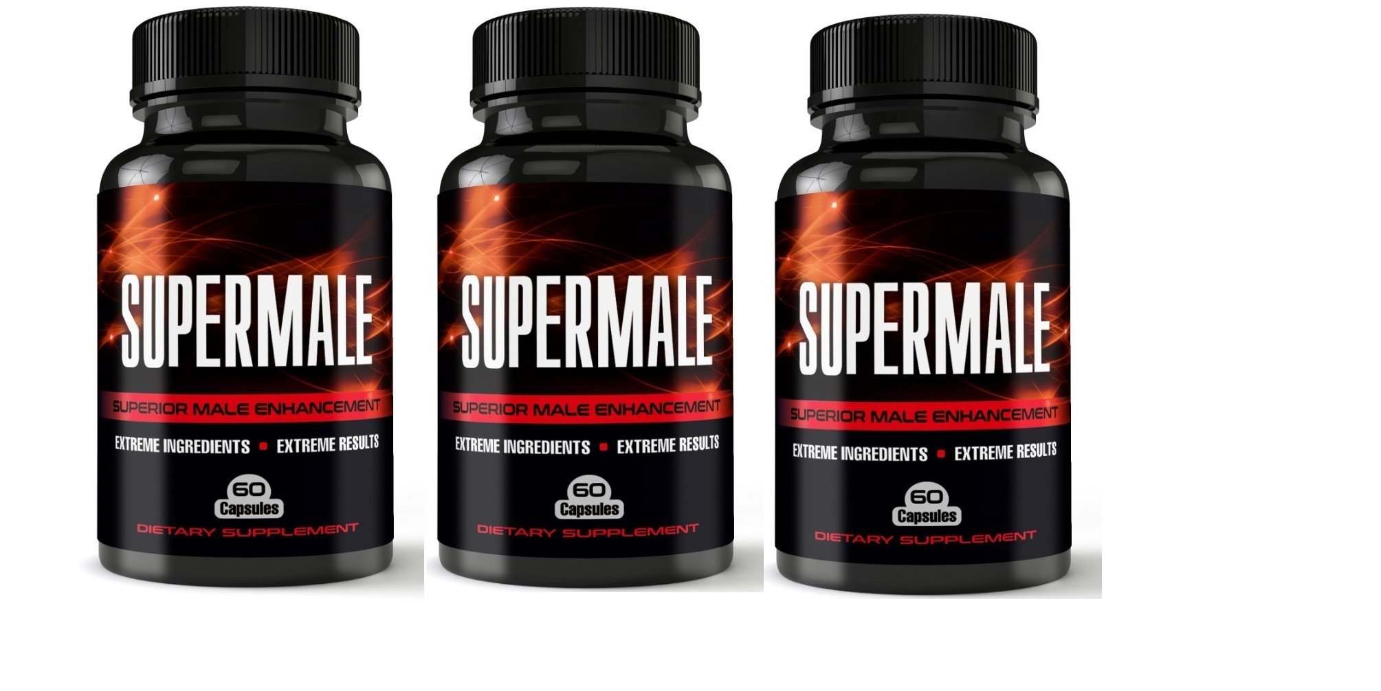 SuperMale - 3 Month Supply - Superior Male Enhancement Pills Increased Energy, Size, Sex Drive - Boost Libido and Testosterone - Sex Pills, Erection Pills, Enlargement Pills, All Natural Enhancement