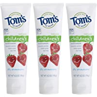 3-Pack Tom's of Maine Anticavity Fluoride Silly Strawberry Children's Toothpaste
