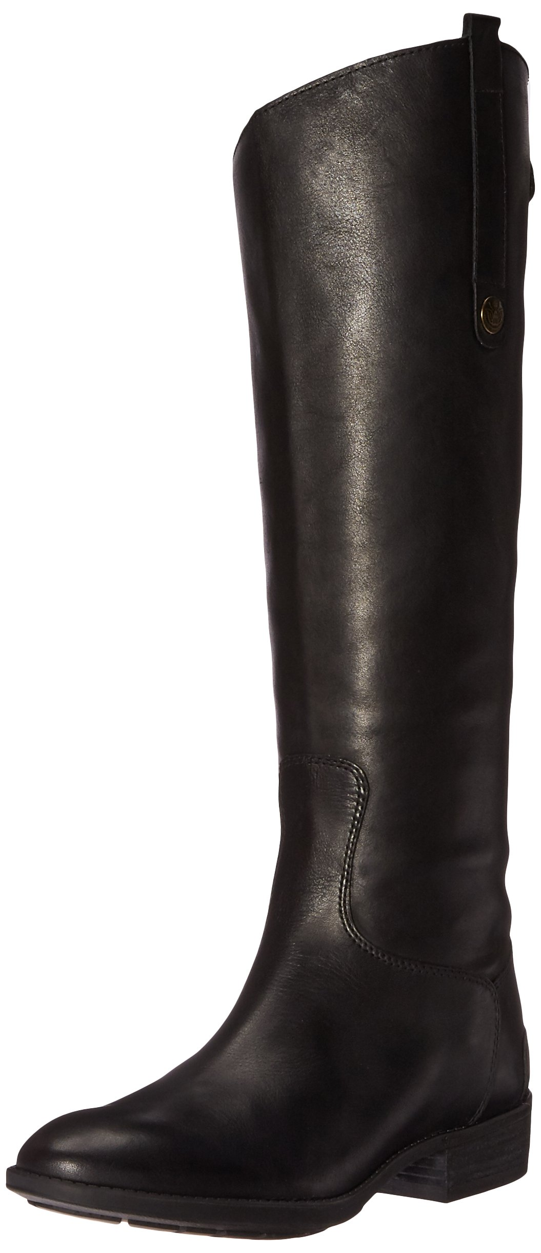 Sam Edelman Women's Penny Riding Boot, Black Leather, 9.5 Wide US by Sam Edelman
