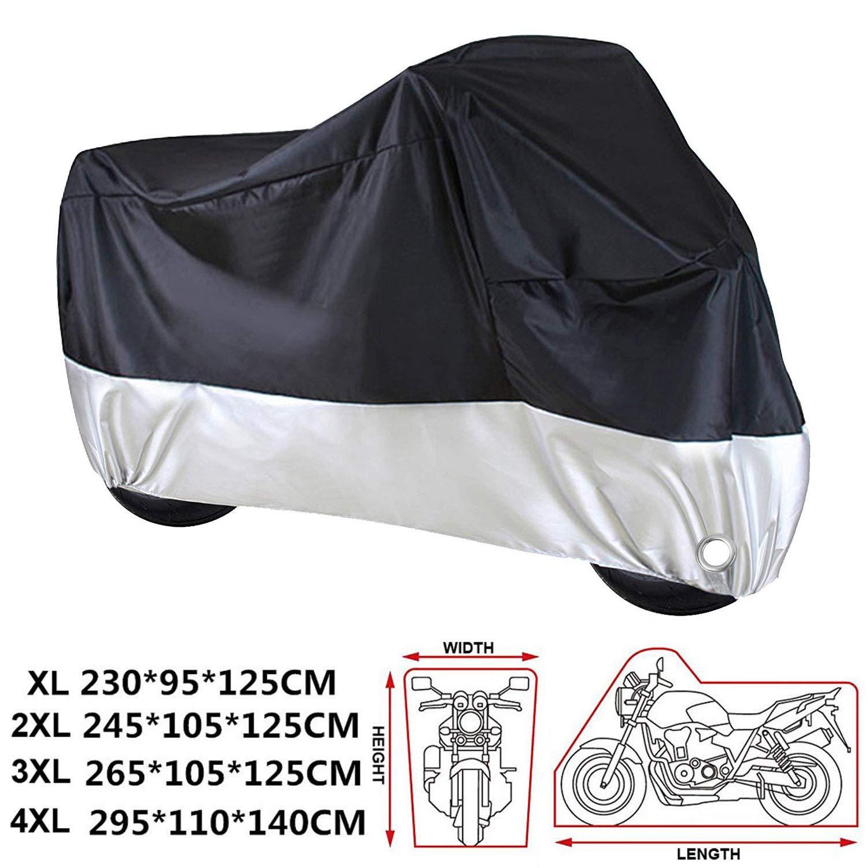 230 * 95 * 125 CM electr/ónica Rey pour Moto Scooter imperm/éable 210d Epais Tissu Les Trous Housse de Protection de Moto//Moto r/ésistant /à leau A Preuve de UV XL
