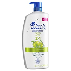 Head and Shoulders Green Apple 2-in-1 Anti-Dandruff Shampoo + Conditioner 32.1 Fl Oz (Packaging May Vary)