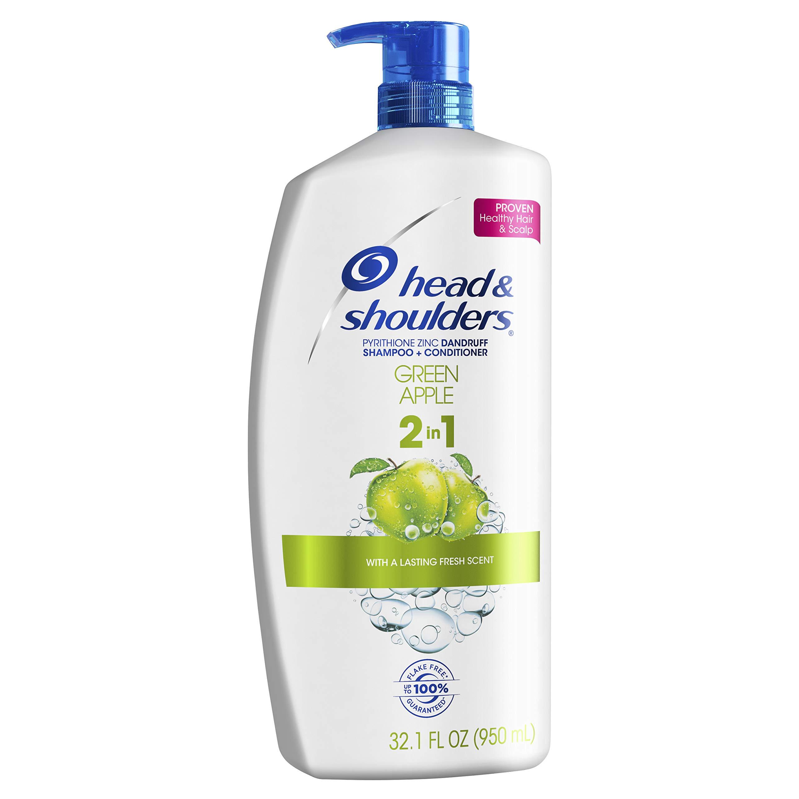 Head and Shoulders Green Apple 2-in-1 Anti-Dandruff Shampoo + Conditioner 32.1 Fl Oz