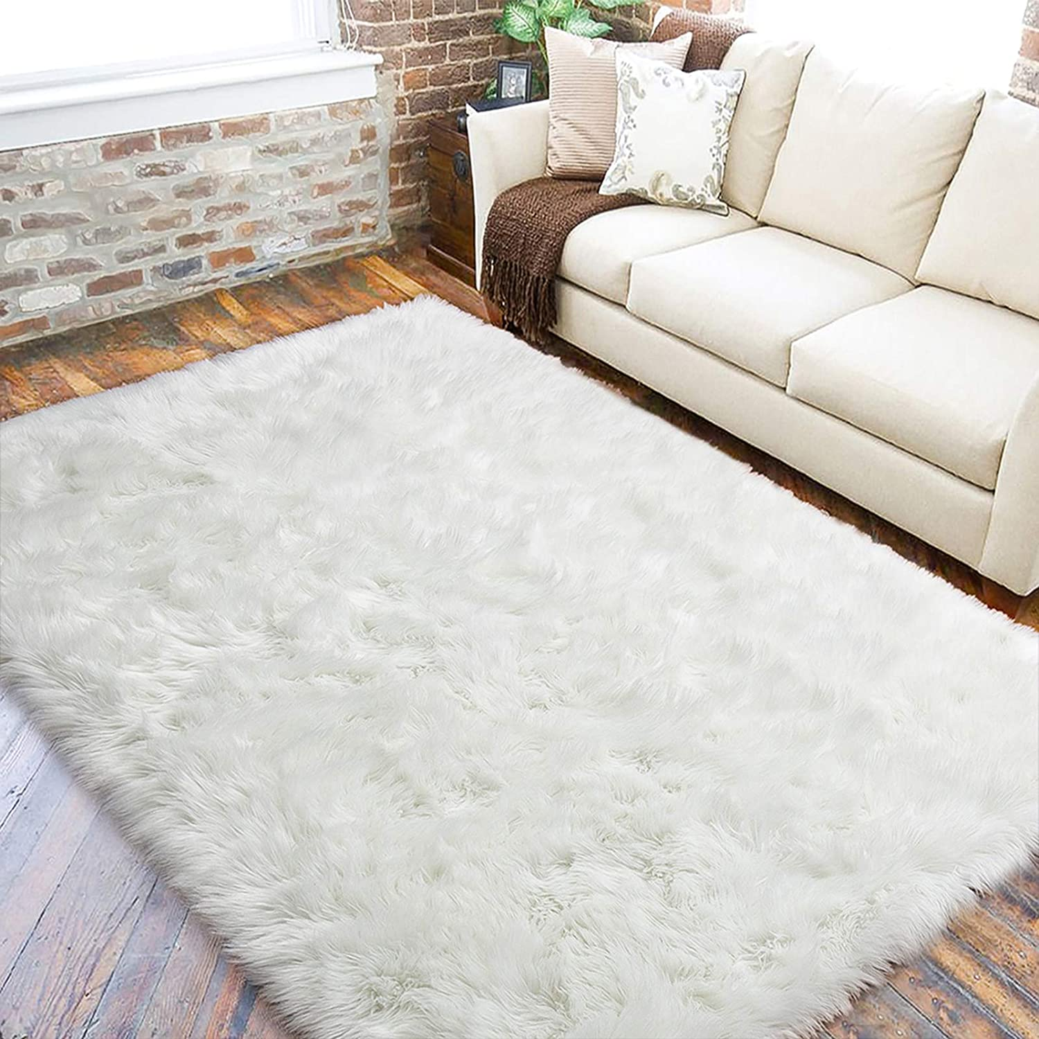 Shop Fur Sheepskin Area Rug for Bedroom from Amazon on Openhaus