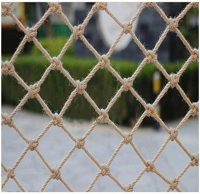 Hemp rope net-ND Red de Aislamiento Red Decorativa Vintage Red de Escalada Infantil al Aire Libre Redes anticaídas para escaleras, Hecho, Resistente al Desgaste (Tamaño: 2 * 2M): Amazon.es: Hogar