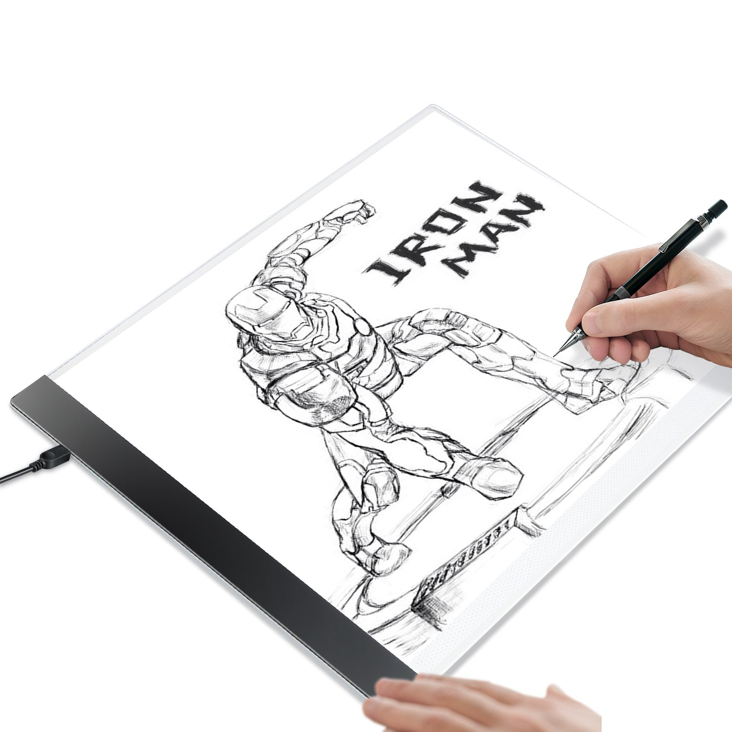 Kohree A4 LED Tracing Light Box Tracer Portable Artists Drawing Board Copyboard USB Power Cable Artcraft Tracing Light Pad for Sketching Animation Designing Stenciling X-Ray Viewing by Kohree