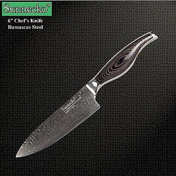 sunnecko cm Damasco cuchillos de cocina cuchillo de chef ...