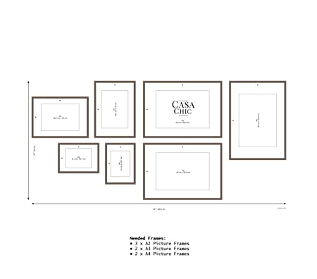 Easy to Use Gallery Wall Template - 79 inch x 37 inch (200 cm x 94 ...