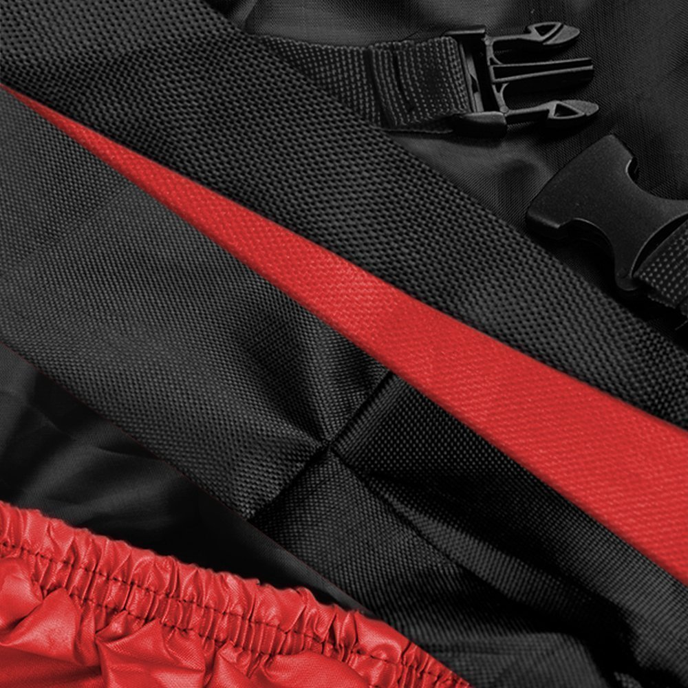 Lyfreen Indoor/Outdoor Motorcycle Cover Lifetime Limited Warranty Reflective Waterproof UV Protection Heat - Moisture Guard Vent Sportbike (XXXL)