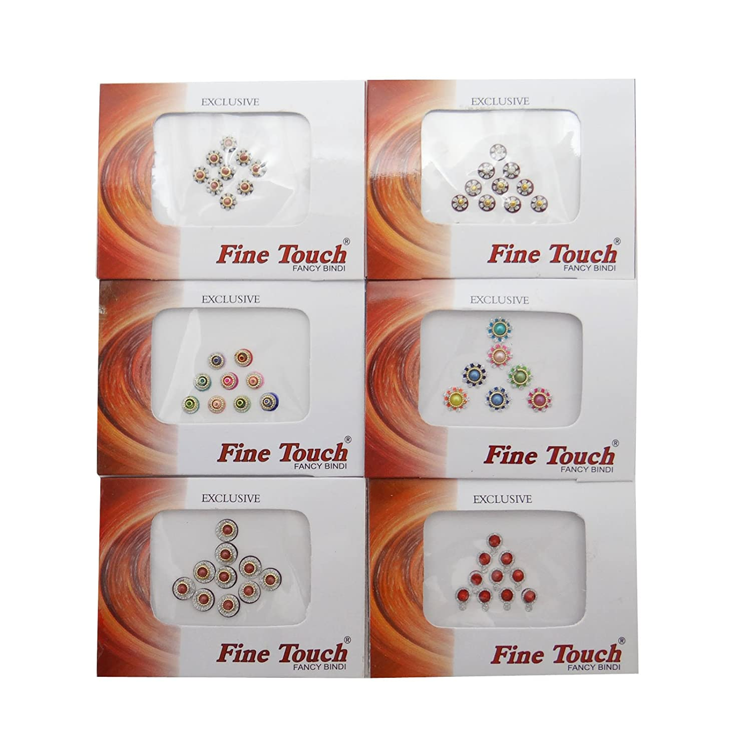 Pack Of 6 Women Bindi Forehead Sticker Self Adhesive Tattoo Accessory Gift Ibacrafts
