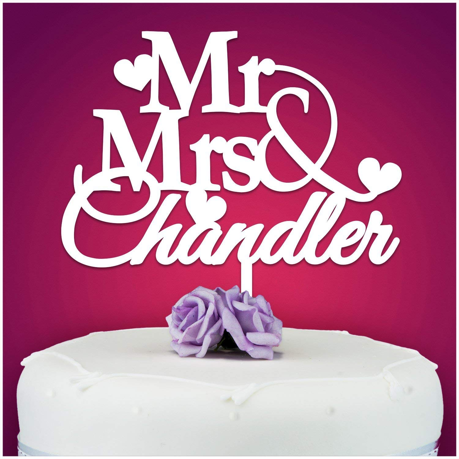 PERSONALISED Wedding/Anniversary Cake Topper Decoration ...