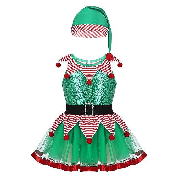 iiniim Vestido Princesa para Niña Bebé con Capa Diadema Guantes Tutú Infantil Disfraces Duende Navidad Halloween Cosplay Ceremonia Conjunto de Disfraz ...