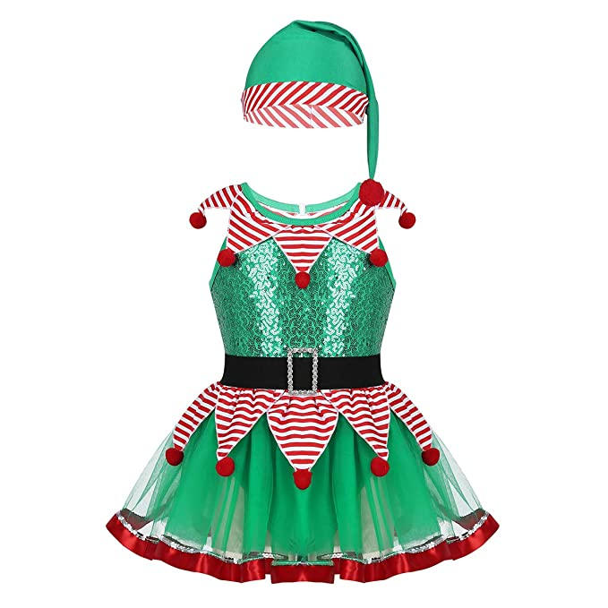 Amazon.com: winying Kids Girls Christmas Fairy Costume Shiny ...