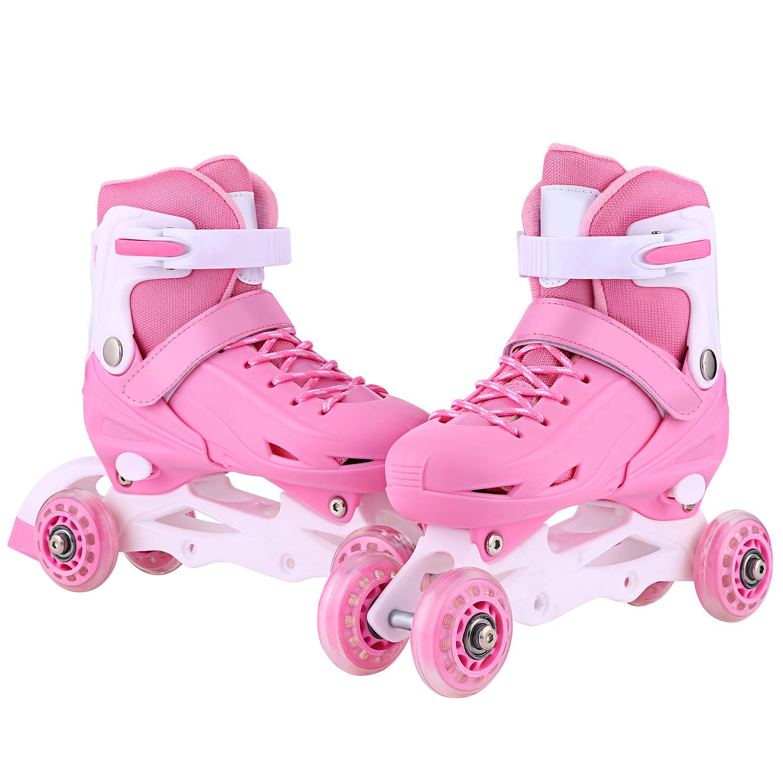 ANCHEER Outdoor Inline Roller Skates for Women Youth Roller Skate Boys Adjustable Inline Quad Skates Rollerblades Size 2 3 4