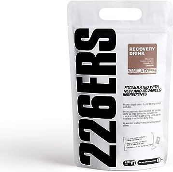 226ERS Recovery Drink, Recuperador a base de Proteína, Creatina, Hidratos de Carbono, Triglicéridos y L-Arginina, Vainilla Café - 1000 gr