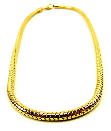 Goldkette gangster damen  Hip Hop Gangster Goldkette für Herren und Damen GlamChain 5mm Ø ...