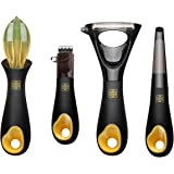 Zestkit Potato Peeler, Zester, Peeler,Citrus Reamer Vegetable/Fruit Accessory Set, 4-Piece for Kitchen Use