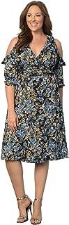 product image for Kiyonna Women's Plus Size Barcelona Wrap Dress