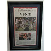 "$179 » 2004 Boston Globe""Yes!"" Red Sox World Series Champions Framed Newspaper 136611 - MLB Unsigned Miscellaneous"
