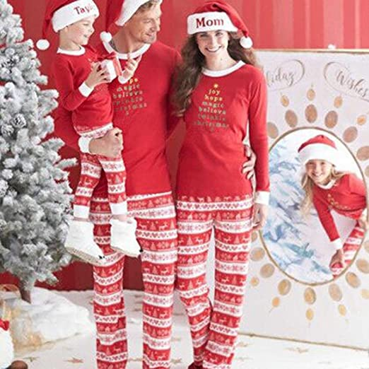 82e1a9d00c Amazon.com  Bluelans Family Matching Christmas Sleepwear Pajamas Women Men  Baby Kids Top + Pants Set  Clothing