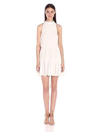 Lovers+Friends Women's Star Chaser Halter Dress, Ivory, Large