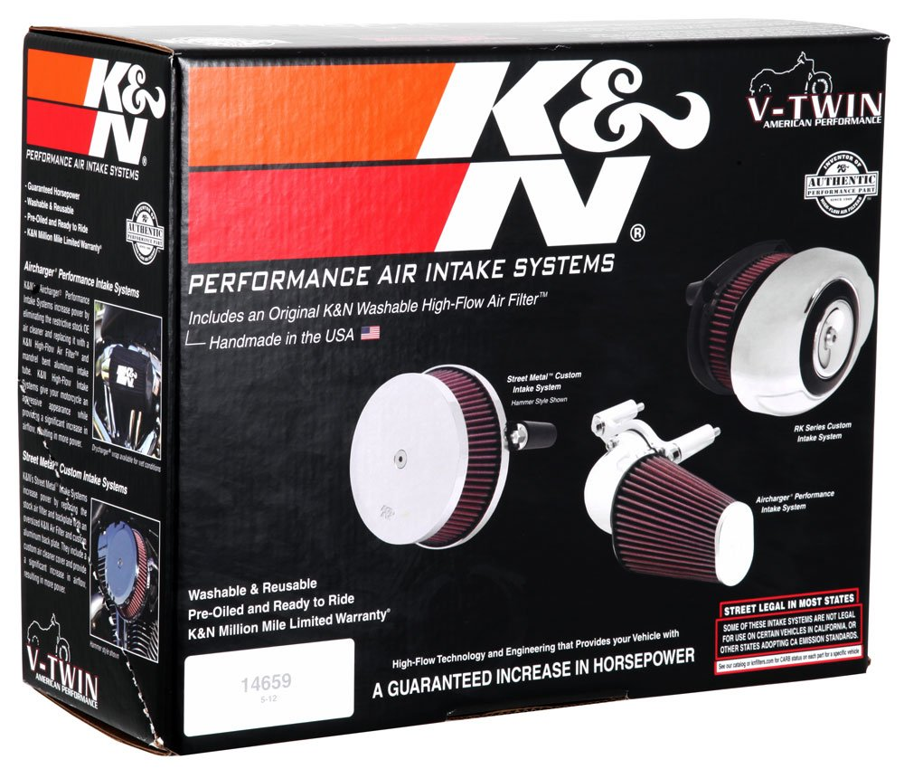 5. K&N 63-1125 Harley Davidson Performance Intake Kit