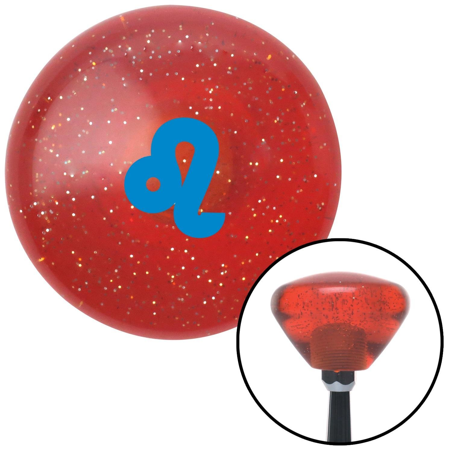 Blue Leo Orange Retro Metal Flake American Shifter 288430 Shift Knob