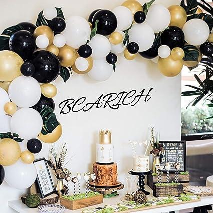 Oro y negro Auto Inflar Globos Helio//Aire Calidad Para Cumpleaños Boda Fiesta