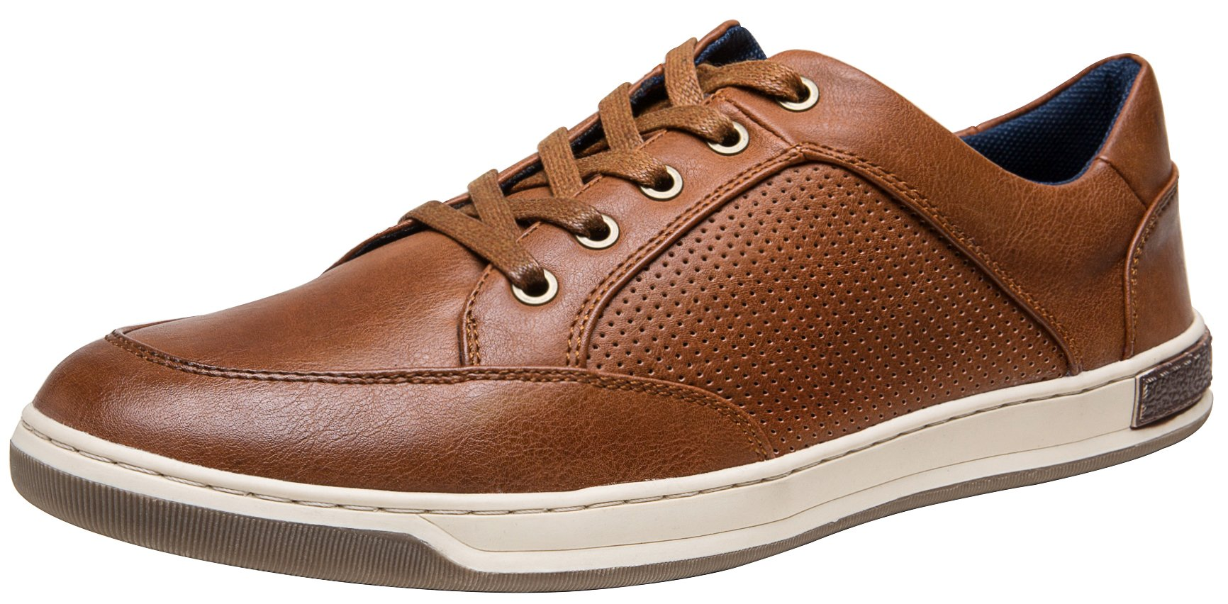 JOUSEN Men's Fashion Sneakers Lightweight Casual Shoes Business Dress Sneaker (10.5,Brown)