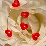Amazon Price History for:10ft 50 LED Love Red Heart String Lights, Impress Life Valentines Day Decoration, Indoor Outdoor Decorative Lights Battery Powered for Patio Furniture Garden Party Xmas Tree Wedding Home School Decor