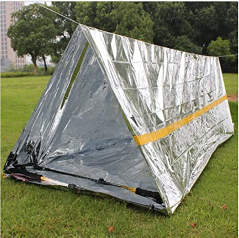 Chartsea Emergency Survival Shelter Tent | 2 Person Mylar Thermal Shelter | All Weather Tube Tent : best survival tents - afamca.org