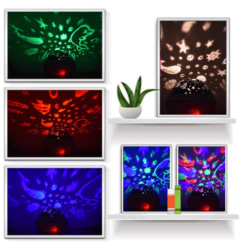 Spielzeug f/ür 1 2 4 5 6 Jahrer schwarz 1-13 j/ährige geschenk,Sternenhimmel Projektor,Ozean Lampe Projektor,Weihnachtsgeschenke f/ür Kinder