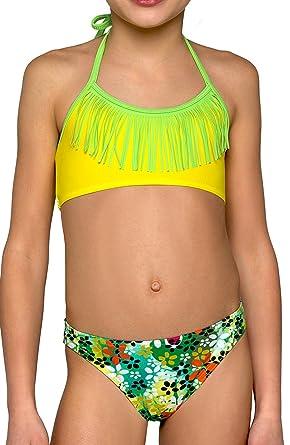 e74dc1893c8 Amazon.com: Girls Swimming Costumes 2 Pieces Tankini Bikini Swimwear ...