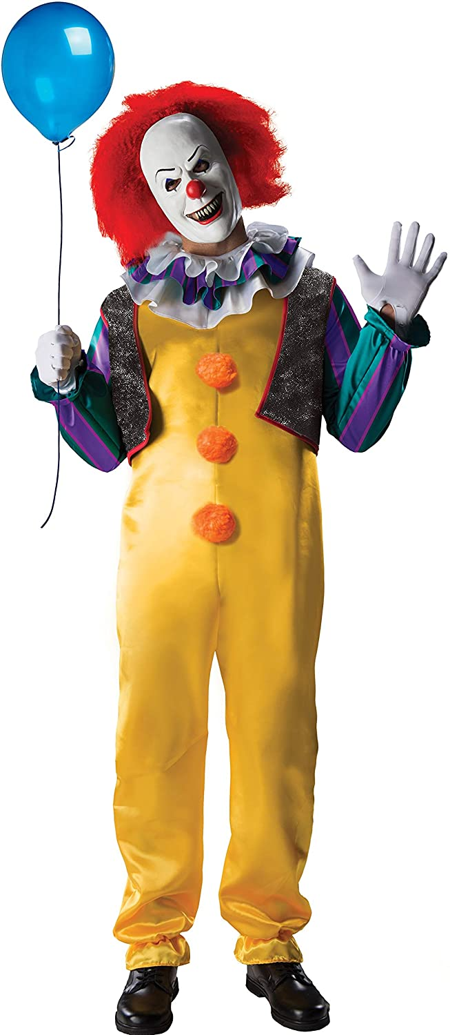 Rubie's IT The Movie Adult Pennywise Deluxe Costume, As Shown, Standard