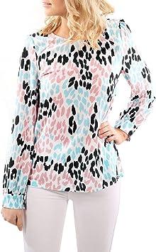 Ronamick Camisetas Originales Mujer Fiesta Blusa Nochevieja Mujer Tops Deportivos Fiesta Camisa De Cuadros Mujer (Blanco,S): Amazon.es: Hogar