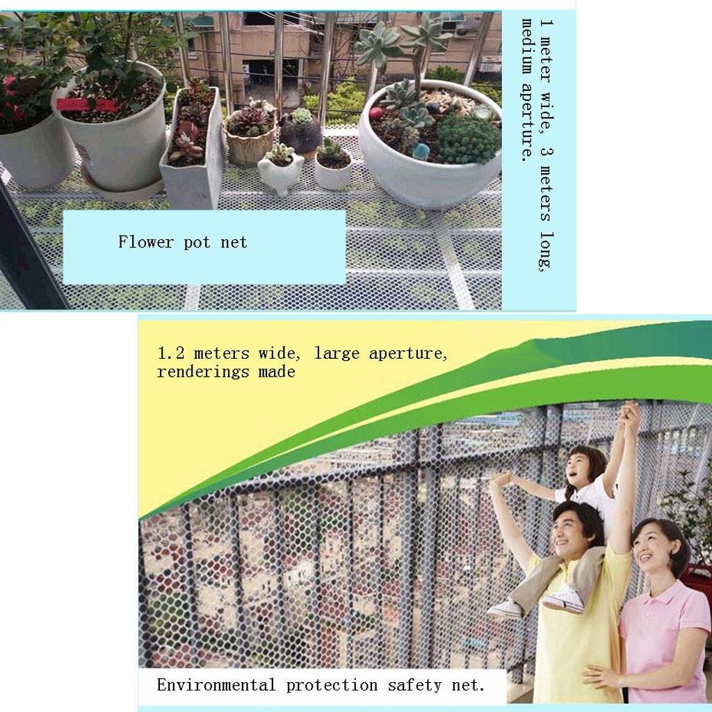 toldos Balcón de protección de la red Macetas redes de seguridad ventana de red segura Pet aislamiento de red Espesar Rejilla de plástico (Color : Clear ...