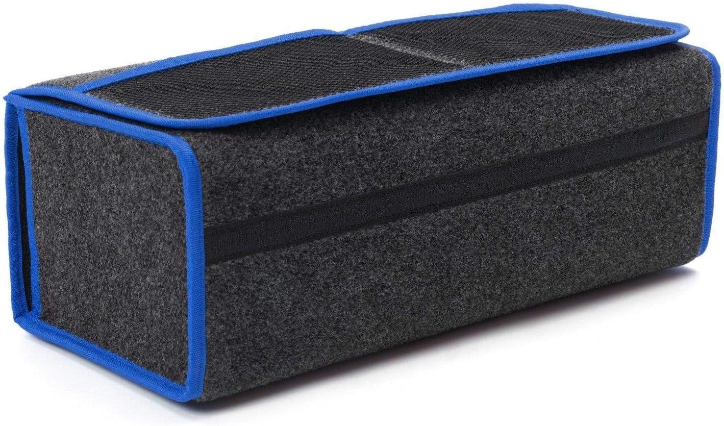Versand ab Sofort. Farbe Grau mit blauen Lamellen EJP F/ür Mustang Kofferraumtasche Organizer Werkzeugtasche Autotasche Tragf/ähigkeit bis 20 kg in h/öchster Qualit/ät