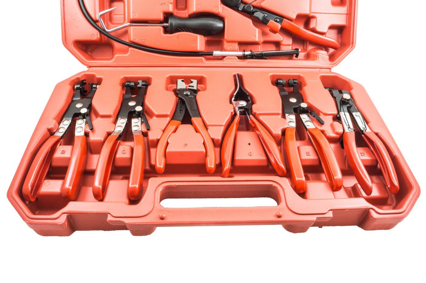 Fascette Auto Montaggio BES 20764 Kit da 9 Pinze Morsetto Smontaggio