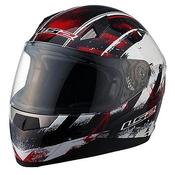 Cascos LS2 FF384 Full Face casco de moto con gráficas de asfalto