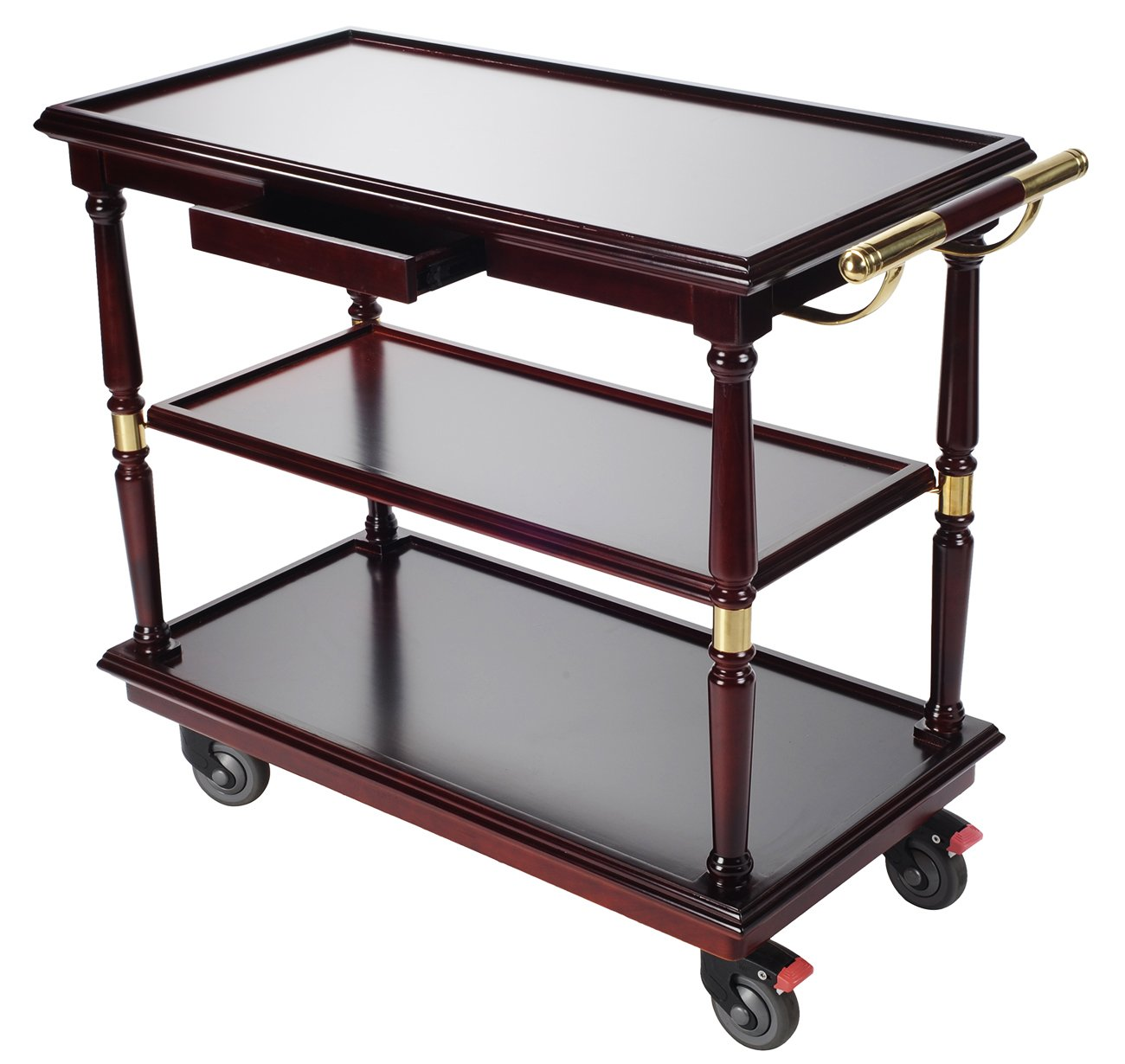 AMENITIES DEPOT Serving Trolley Cart 3 Tier Kitchen Cart with Easy Moving Flexible Wheels (C-13)