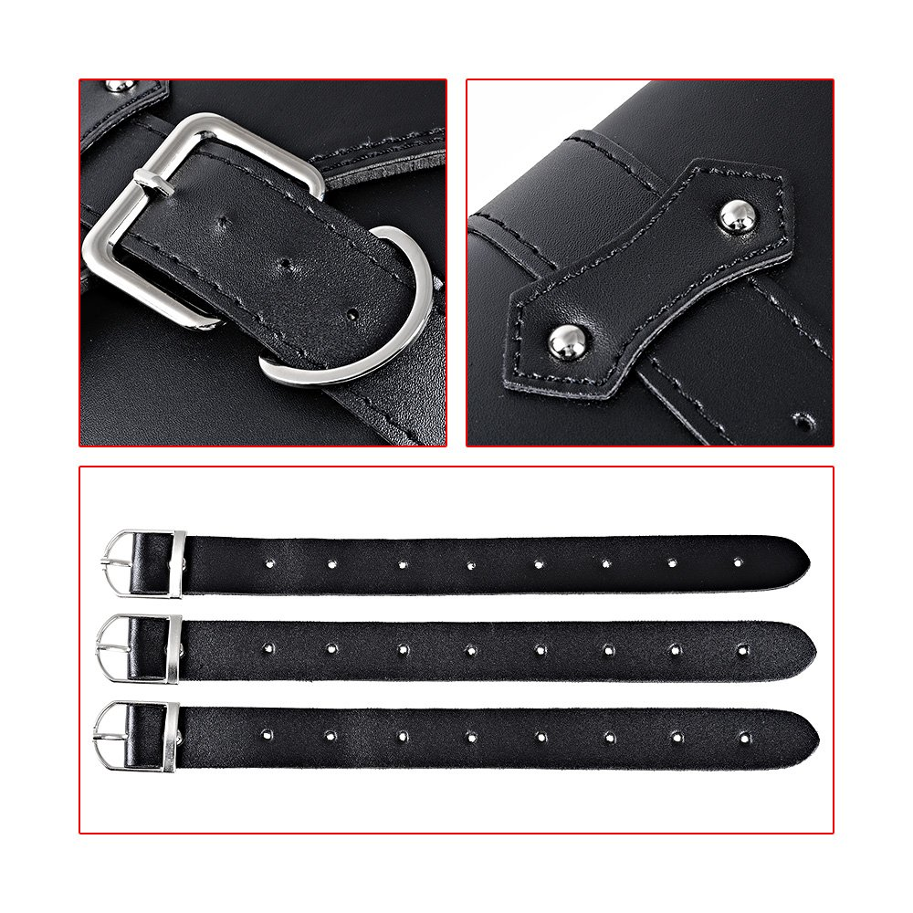 Left Right Soft PU Leather Solo Swing Arm Saddlebag Compatible with Harley Sportster XL883 XL1200