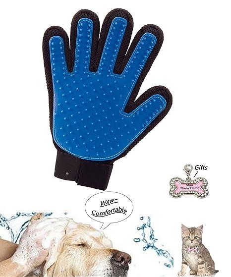 Guante de aseo para perros y gatos, verdadera limpieza al remover el pelo, guante