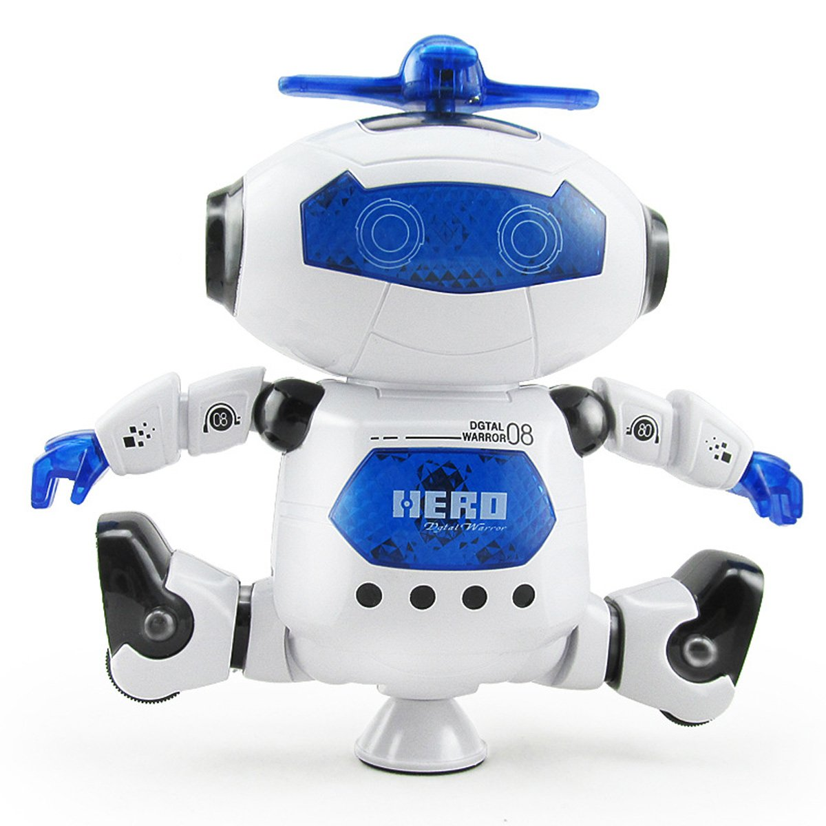 Electronic 360 Degree Rotation Walking Dancing Robot Toys With Music And Colorful Flashing Lights for Kids Boys Girls Birthday Xmas Gift AbleGirl