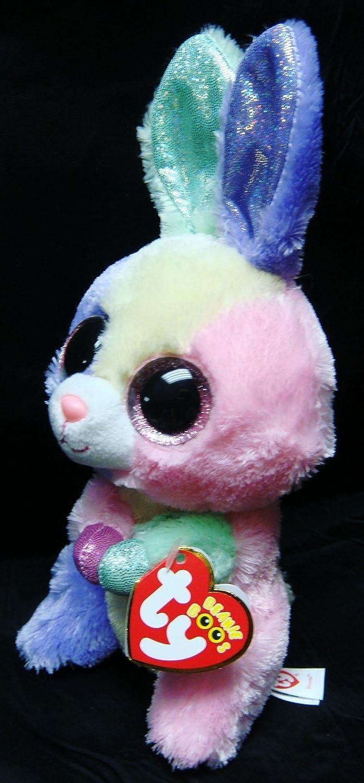 11c2bc8a871 Amazon.com  IN HAND NEW TY BEANIES BOOS SERIES STUFFED ANIMAL BIG EYES eyes~ Bloom the Rabbit bunny rare~15cm Cute Plush doll  Baby