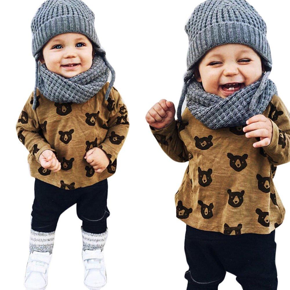 DIGOOD Toddler Newborn Baby Boys Girls Winter Clothes,Cartoon Ladybug Sleep Play Hooded Rompers Bodysuit Set