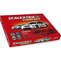 Scalextric-C10256S500 Circuito Pistas Tornado Chase, Color Rojo, única