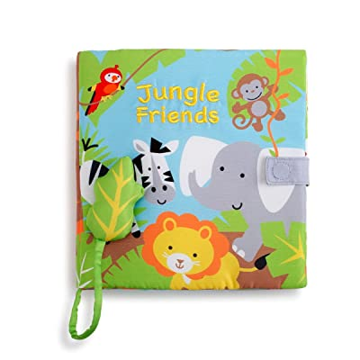 Swinging Jungle Friends Leaf Forest Green Children's Musical Soft Book Toy : Baby